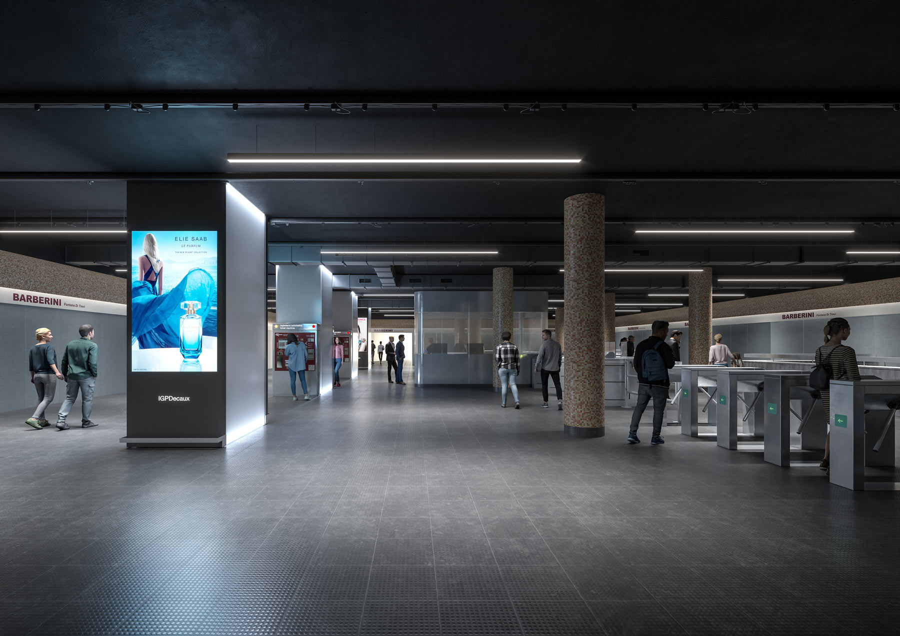 Bruno + Partners | Refurbishment of a metro station, Rome (IT)